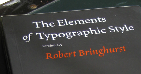 Elements of Typographic Style cover title