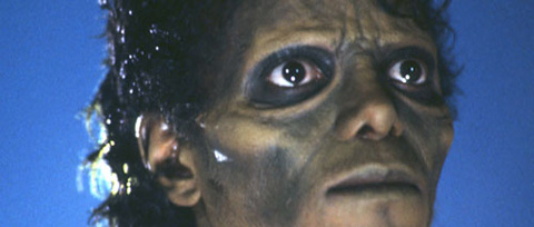 Close up of Michael Jackson as a zombie in 'Thriller'.